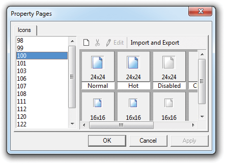 Add, Edit, Copy, Delete and Modify Command Bar Images