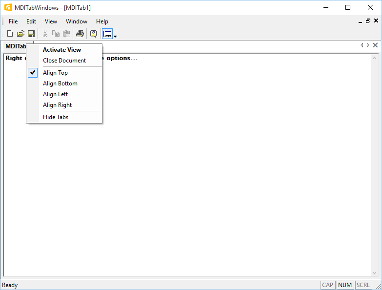 MDI Tabbed Interface