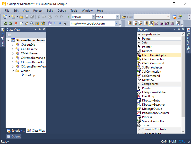 Visual Studio 2010 Style Theme Support
