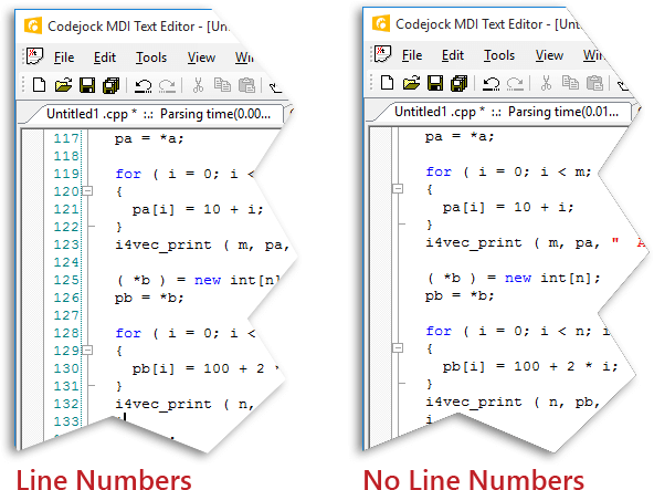 Line Numbers